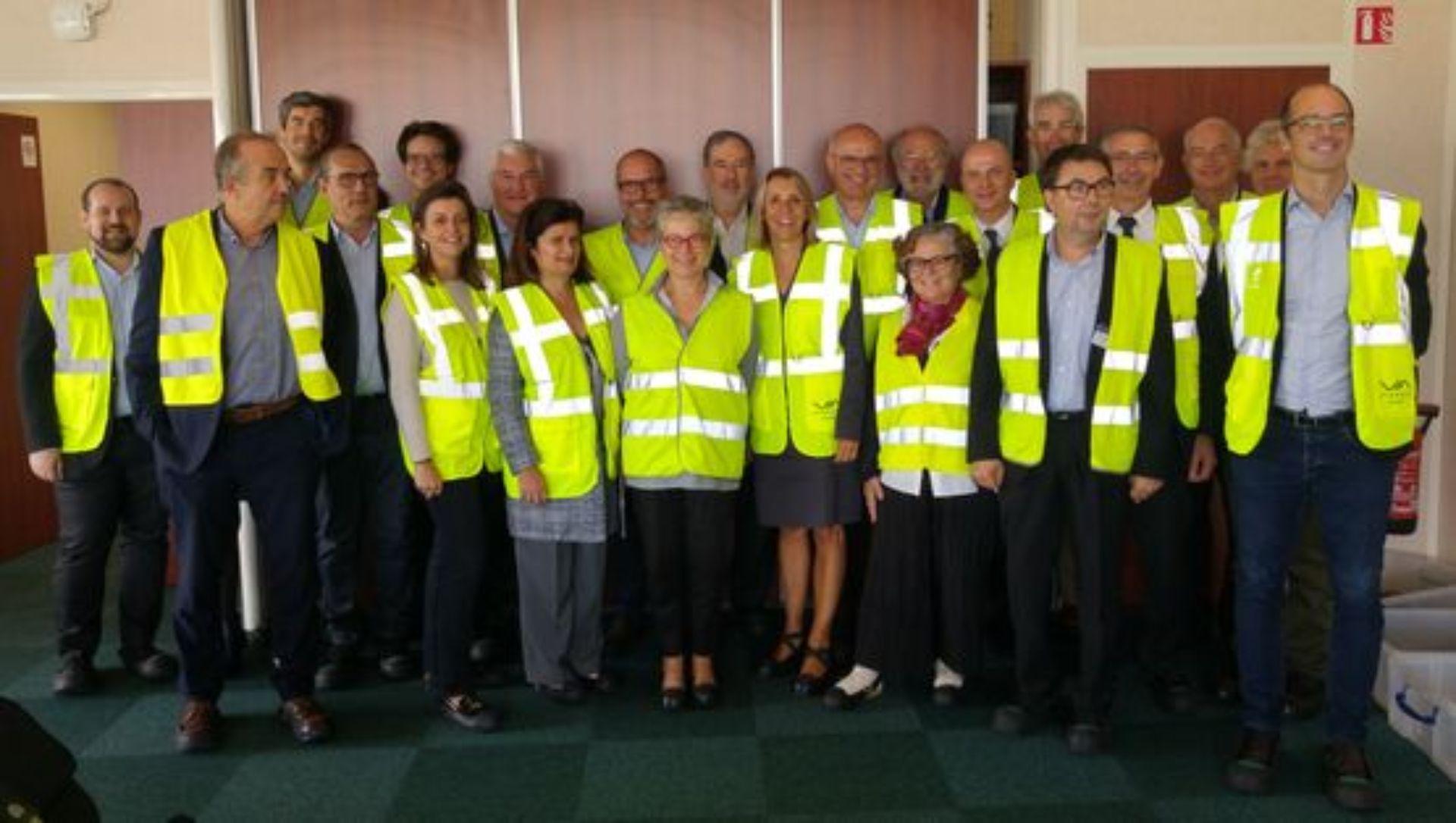 Visite de la plateforme industrielle de La Poste par le Comité directeur de la FNPS