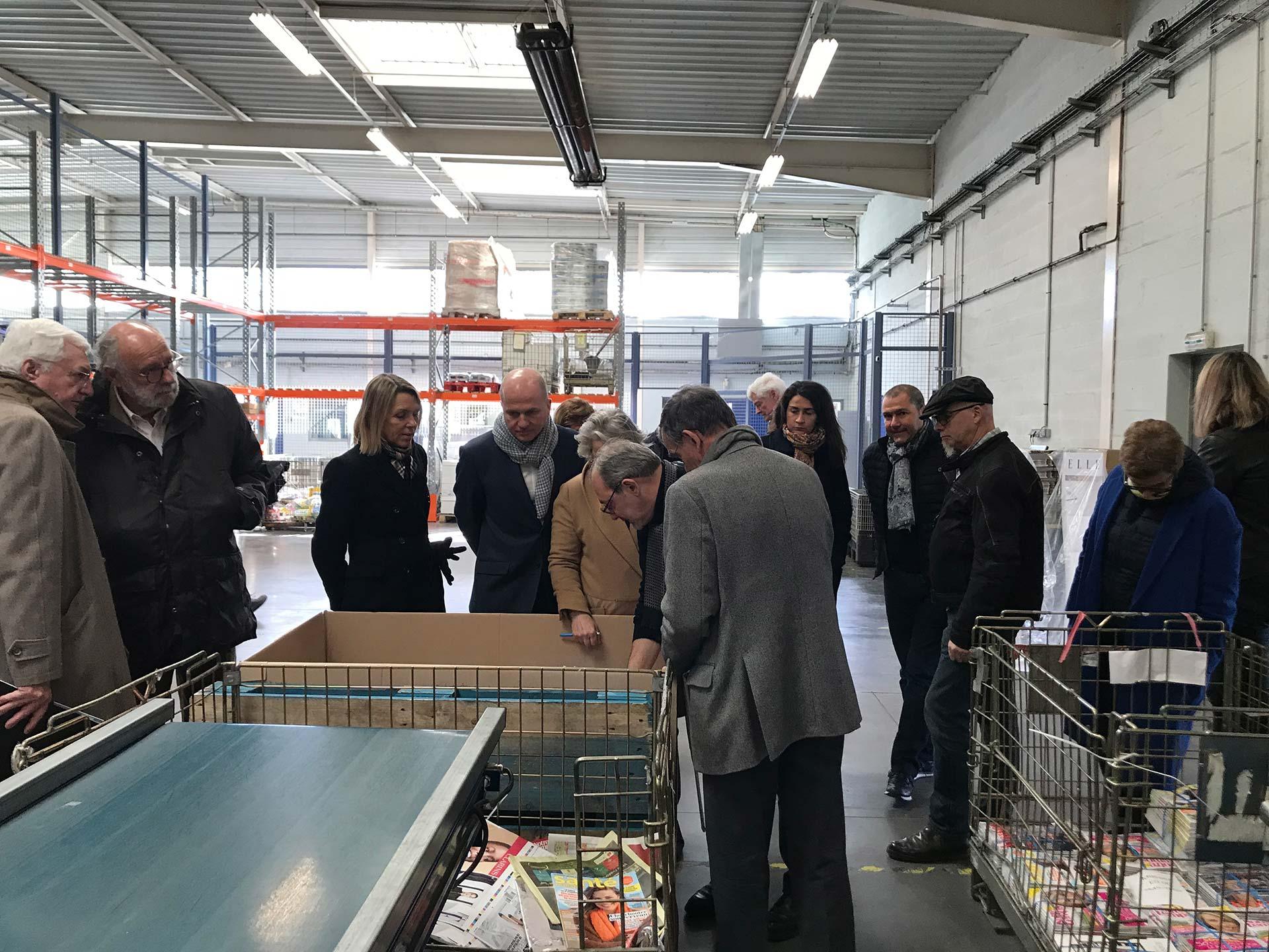 La FNPS visite les locaux du dépositaire de presse Yvelines Distribution Services