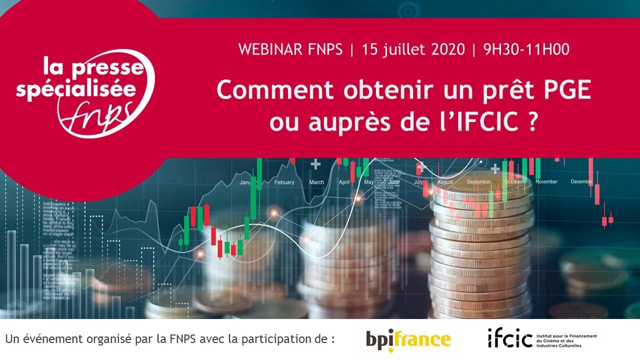 Webinar : Comment obtenir un prêt PGE ou auprès de l'IFCIC ?