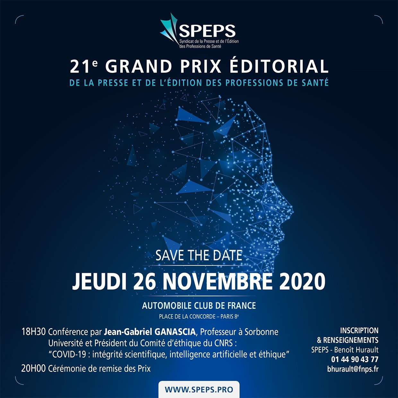 Soirée du Prix Éditorial 2020 : jeudi 26 novembre 2020