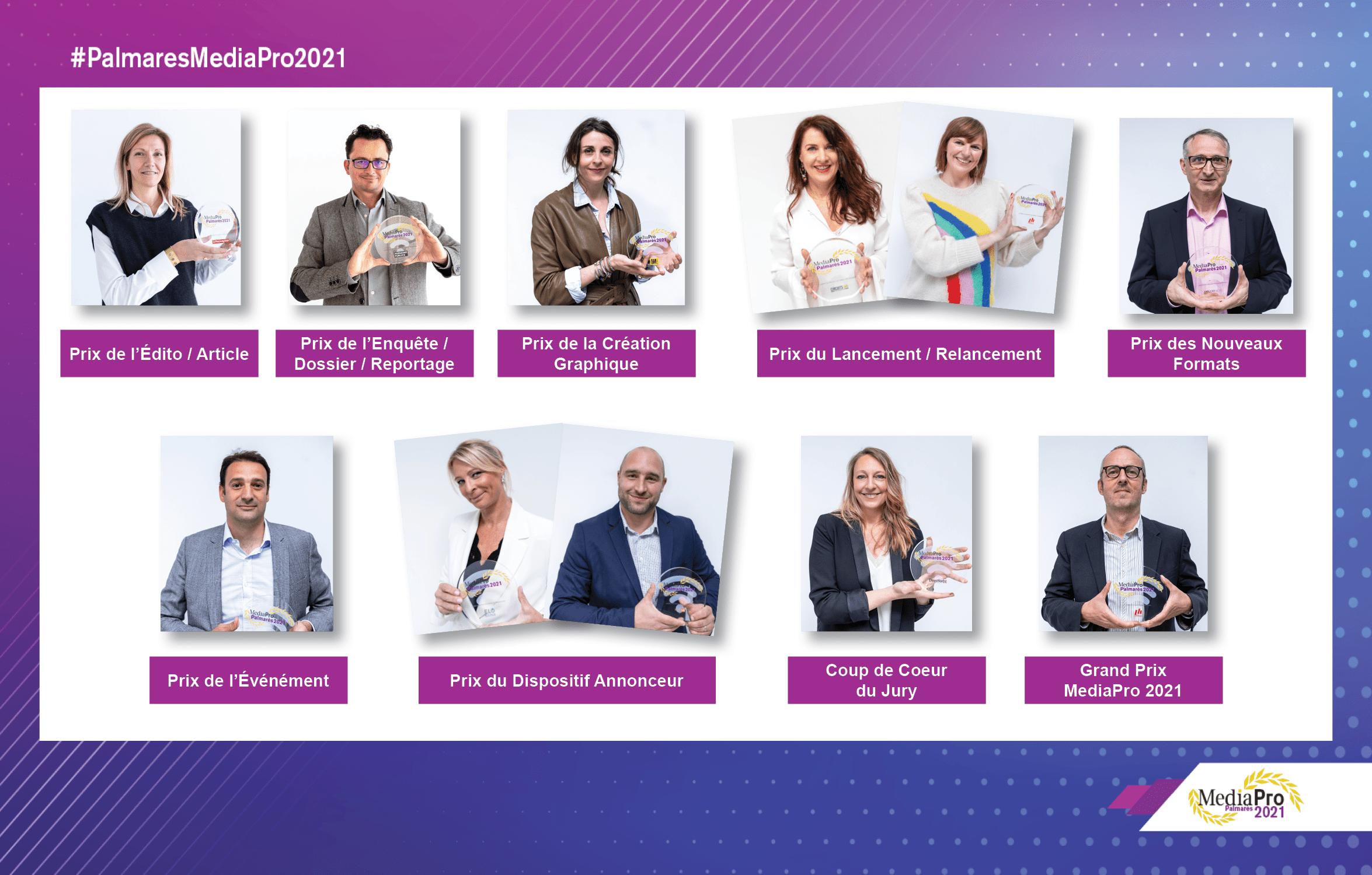 Félicitations aux lauréats du Palmarès des médias professionnels 2021!