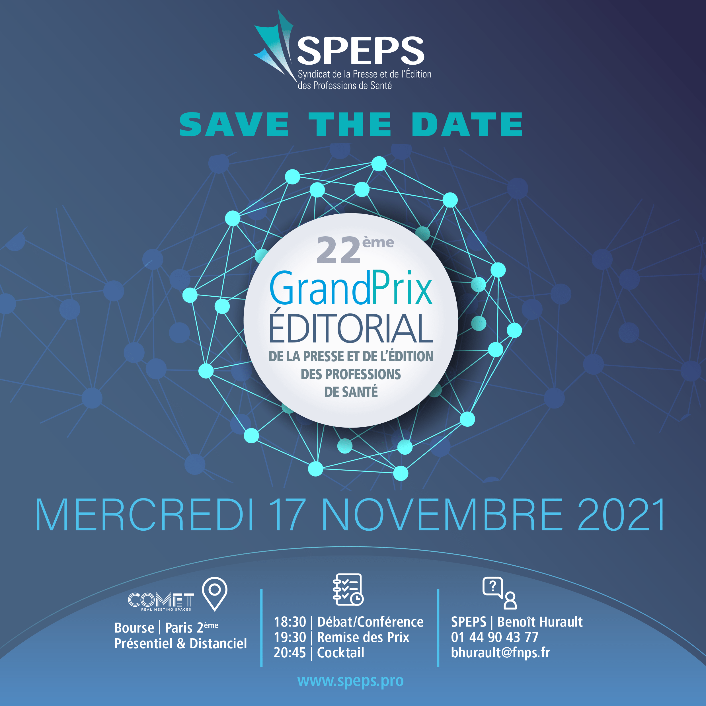 SAVE THE DATE – PRIX ÉDITORIAL SPEPS 2021