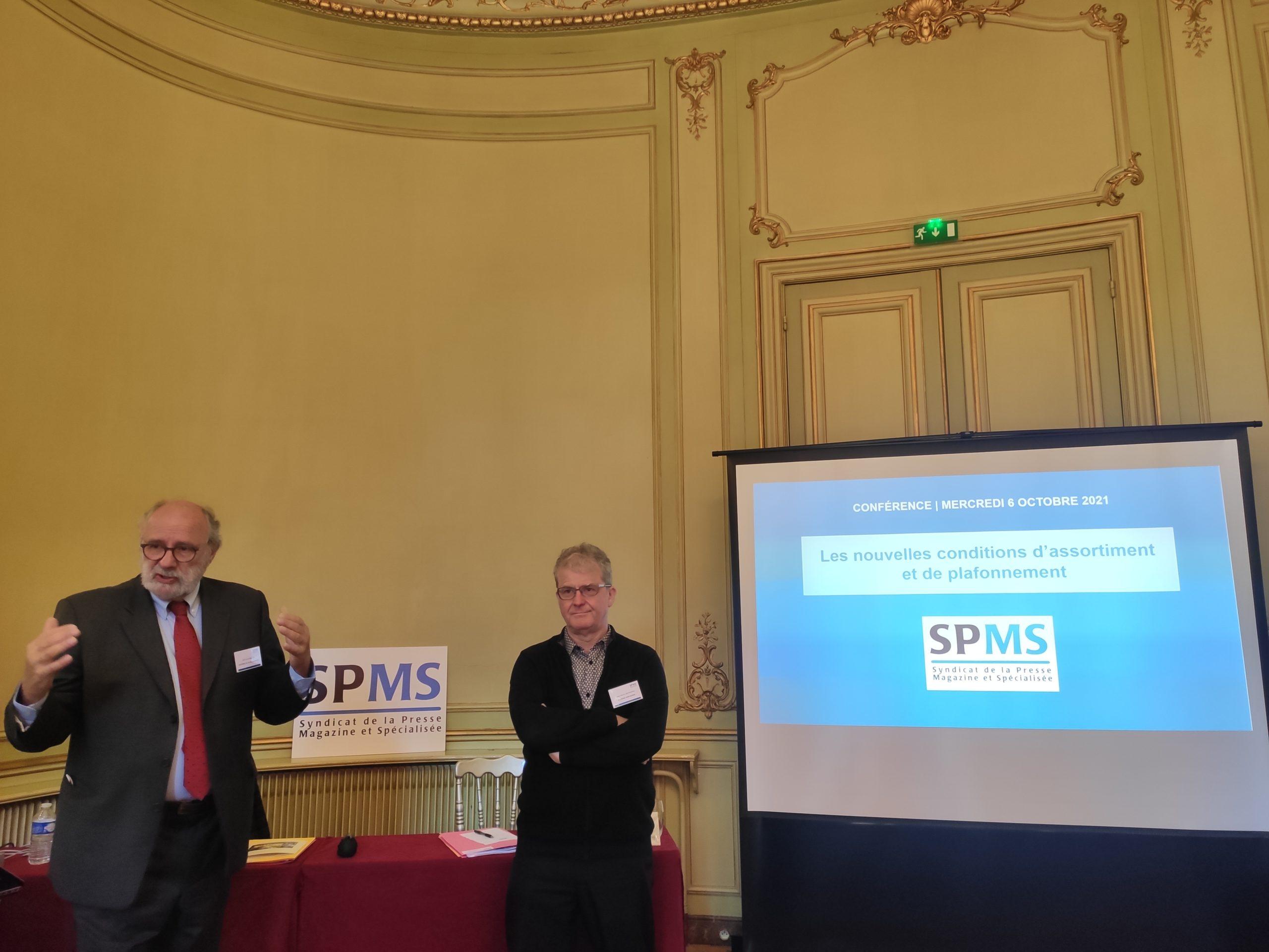 Conférence SPMS : les conditions d'assortiment et de plafonnement